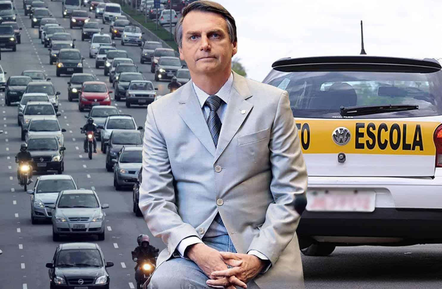 Autoescola CNH radares pontos Bolsonaro
