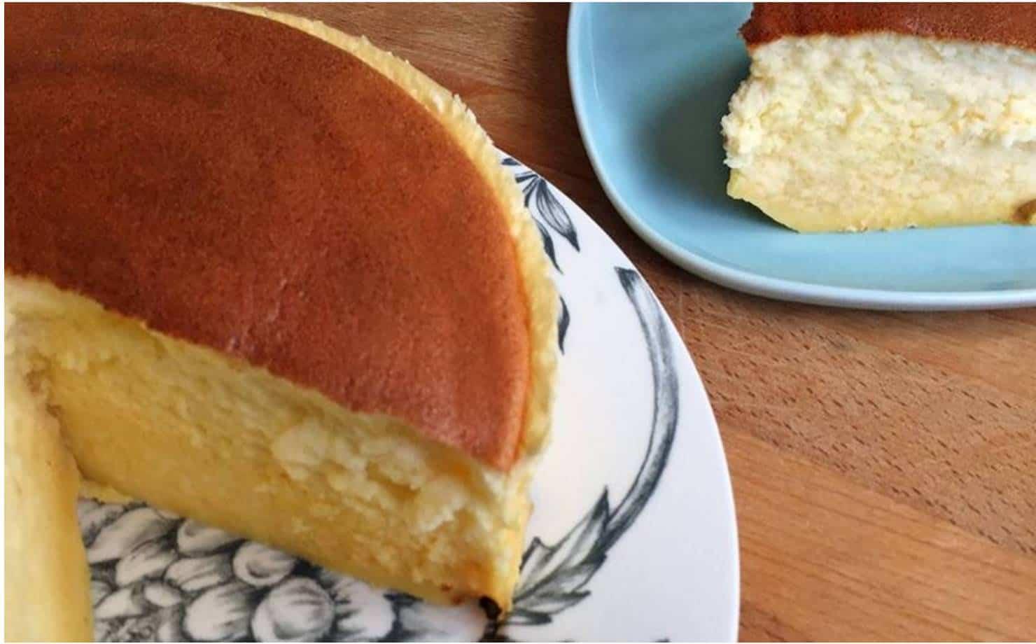 Delicioso cheesecake japonês com apenas 3 ingredientes