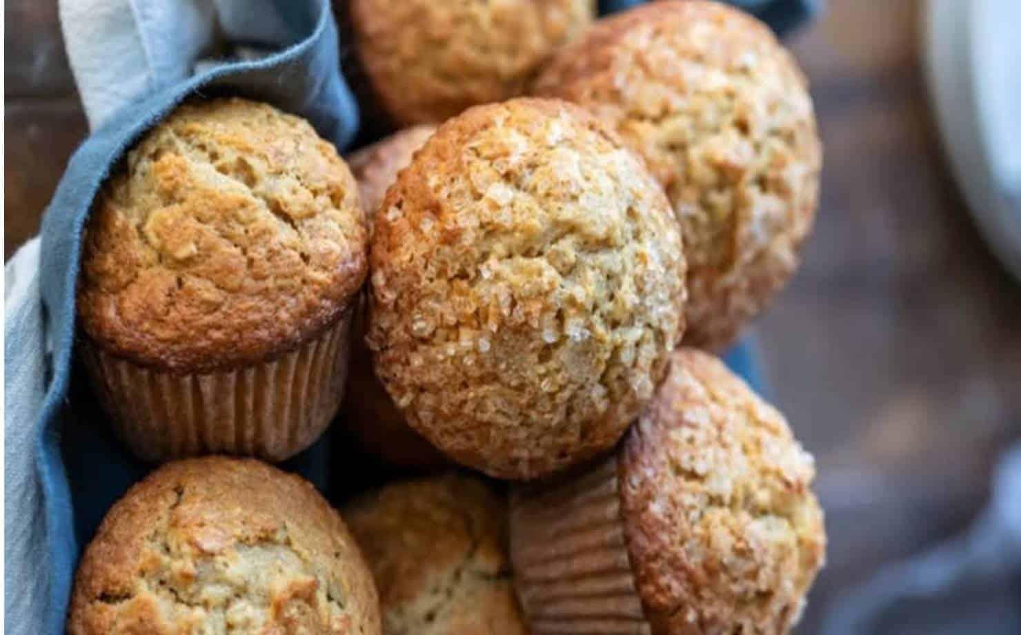 Muffins de banana saudáveis