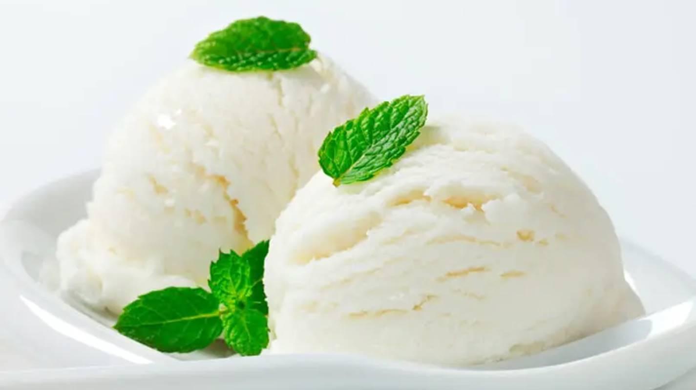 sorvete de limão caseiro