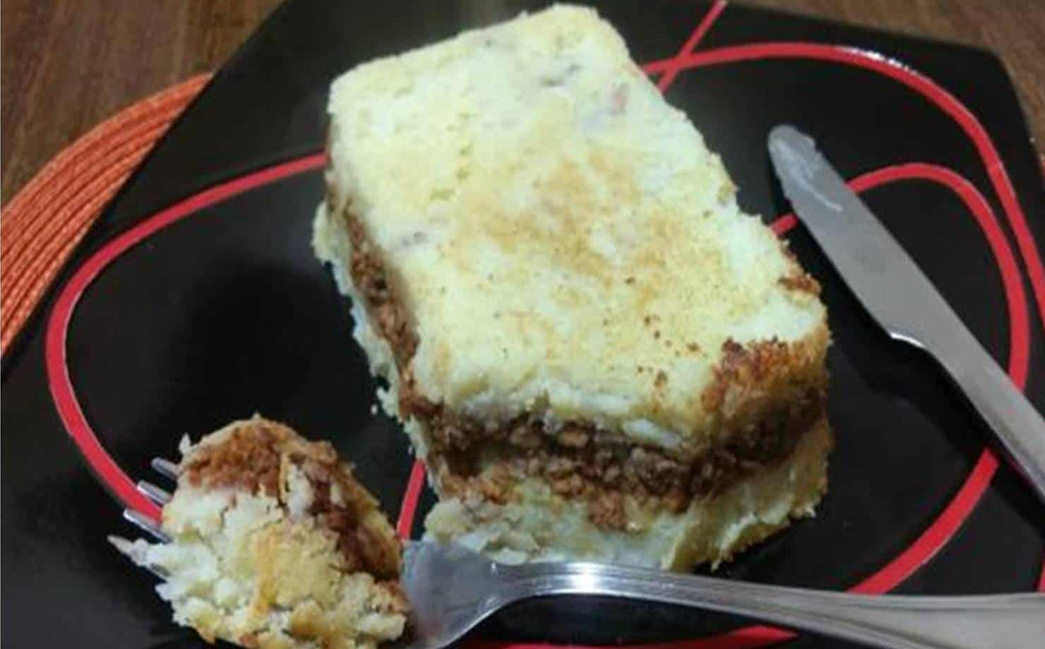 Torta de batata e carne gostosa