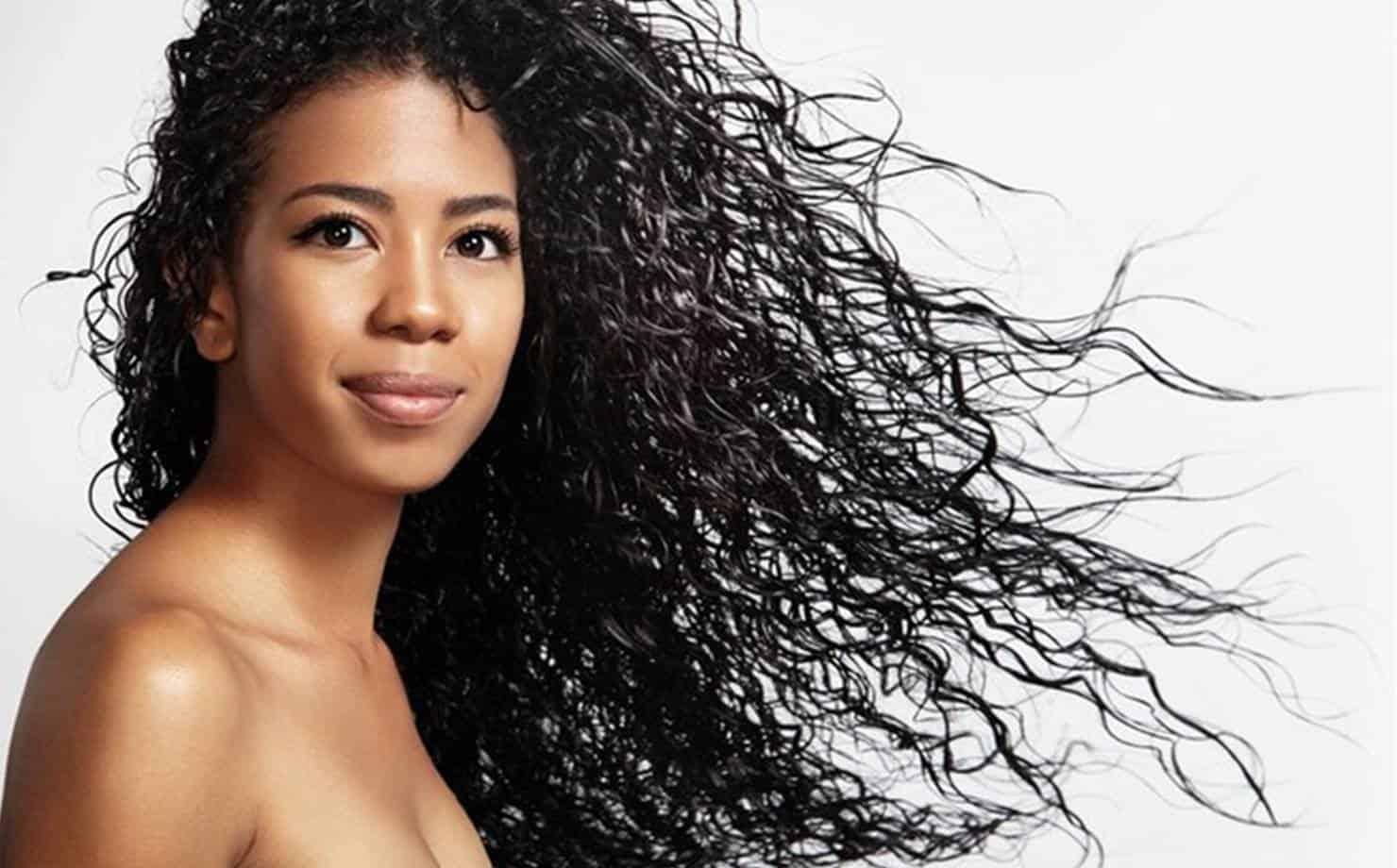 Mulher Negra com Cabelo Bem Tratado e Pele Bonita