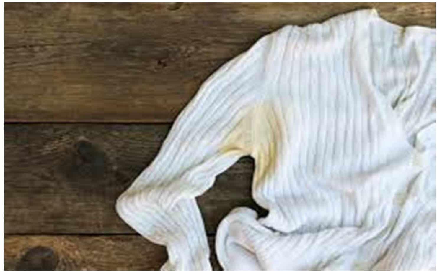 Remova manchas de suor das roupas brancas com esta mistura caseira