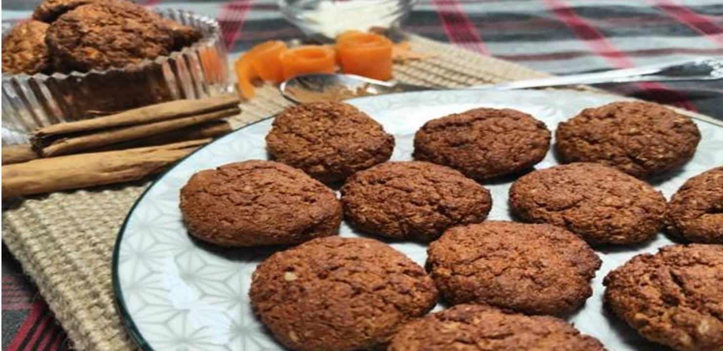 Receita fácil e saudável de biscoitos de cenoura e aveia