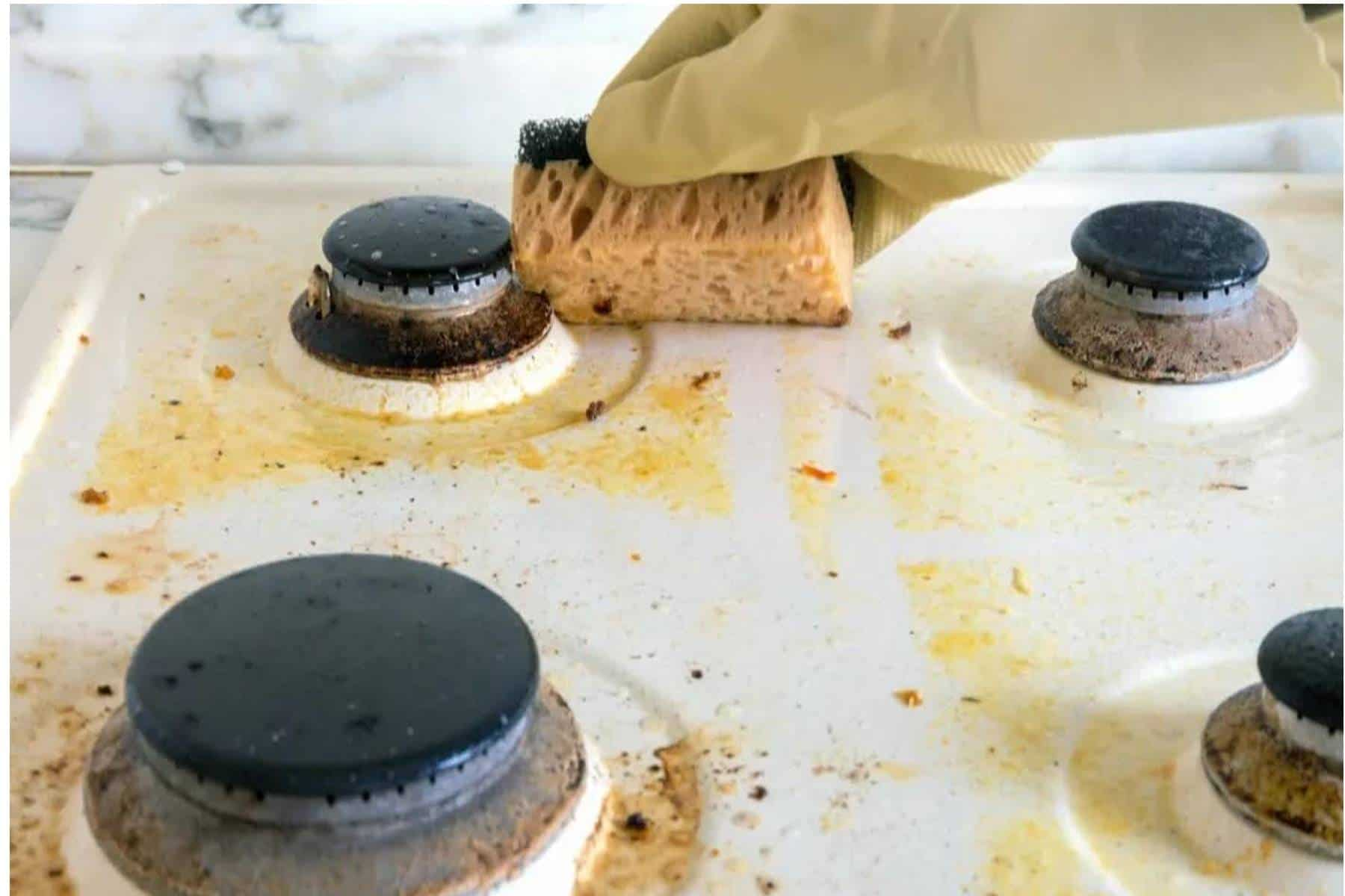 Elimine a gordura do seu fogão com apenas 3 ingredientes