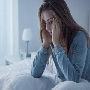Mulher Triste com Sinais de Depressão