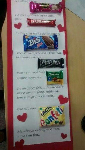 Carta com Chocolate