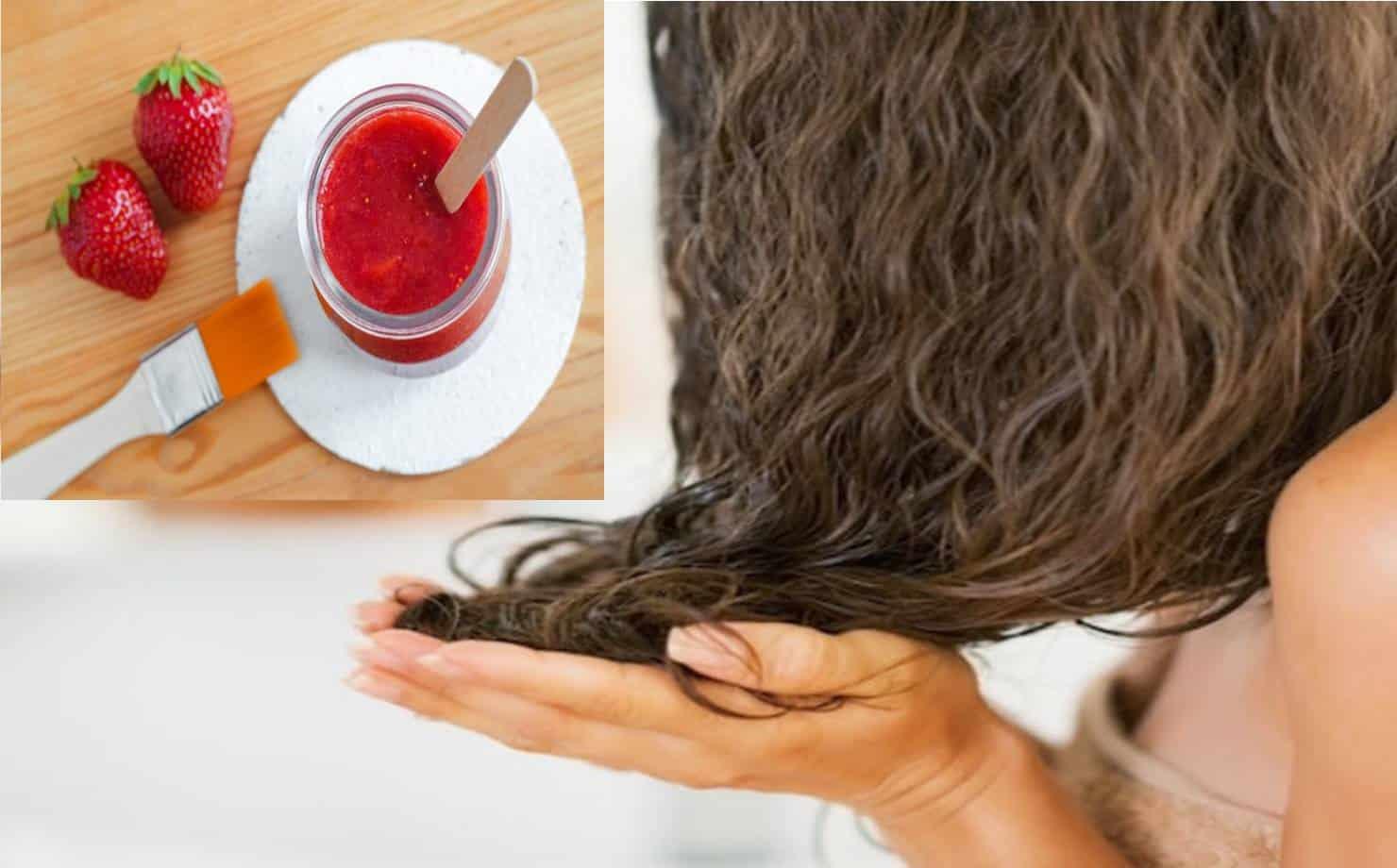 Combata o frizz e deixe seu cabelo macio com esta máscara de morango