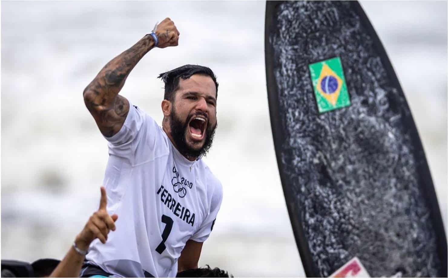 Olimpíadas: Ítalo Ferreira é ouro e 1º campeão olímpico no surfe