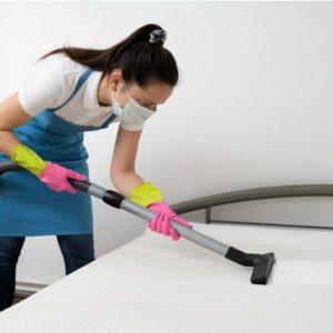 Mulher Limpando o Colchão