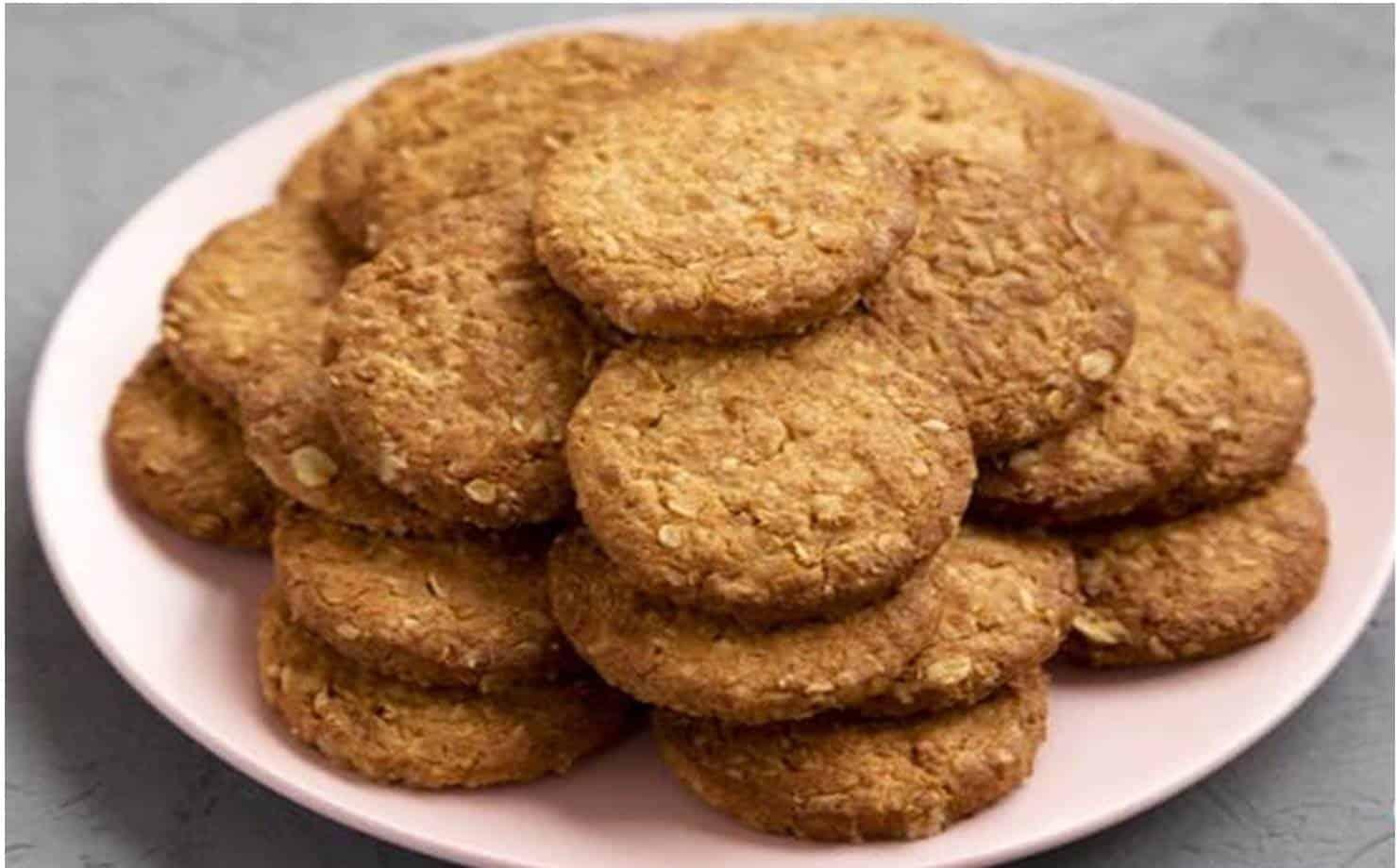 Receita de biscoitos de aveia fáceis e rápidos