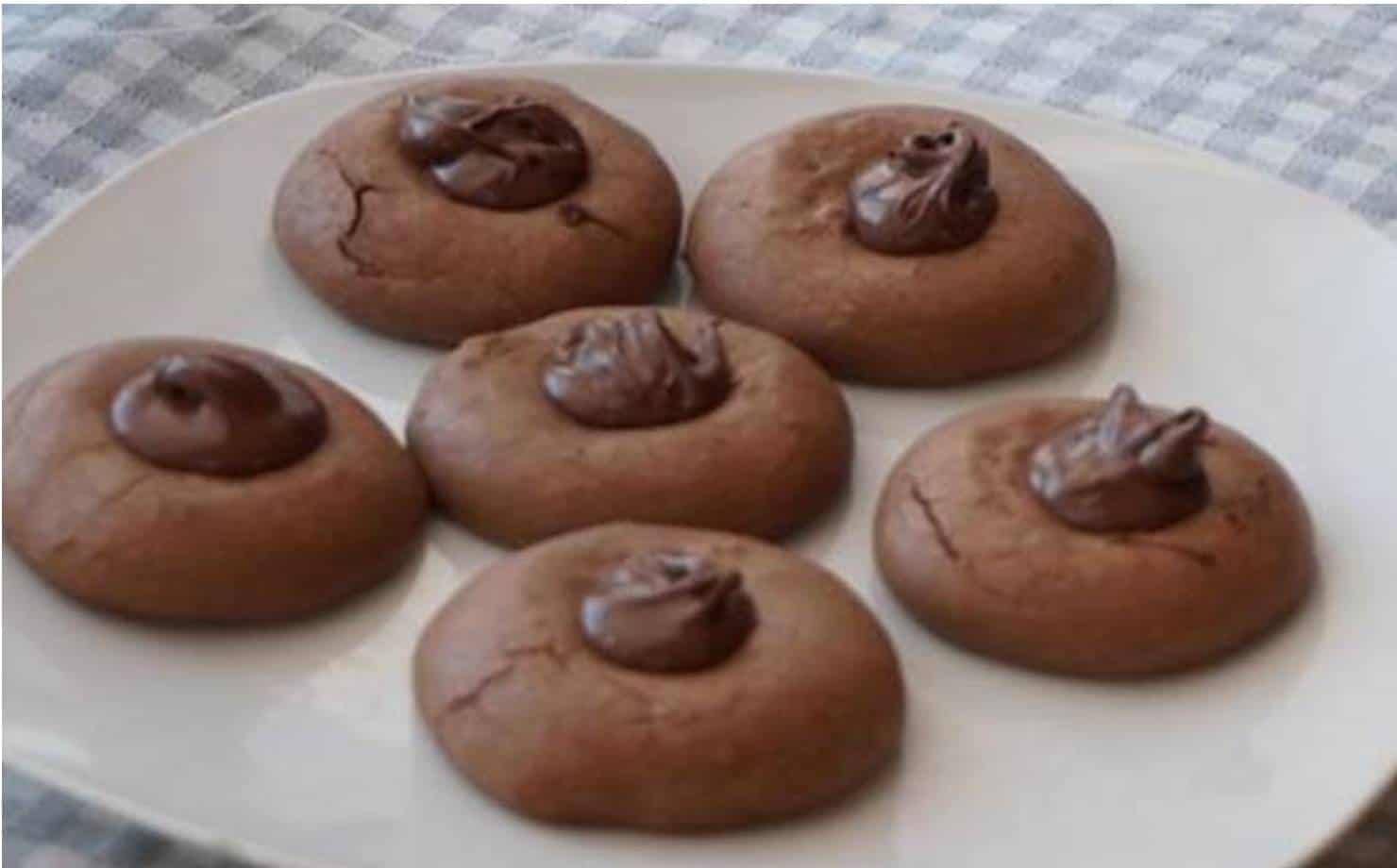 Biscoitos Nutella no Prato