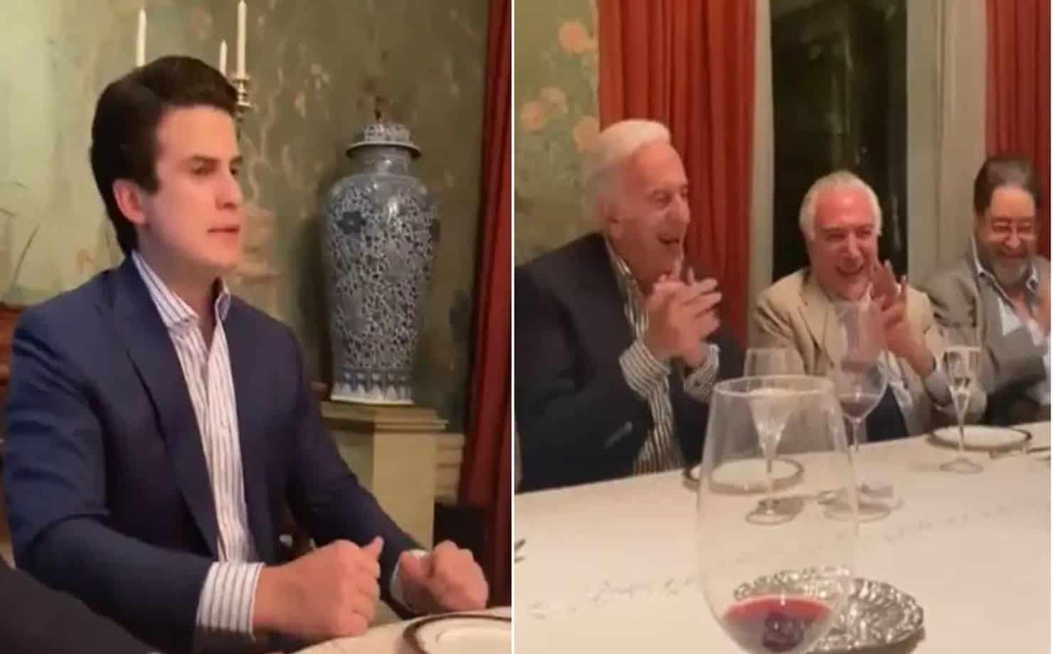 Vídeo que mostra Temer rindo de imitação que ironiza de Bolsonaro viraliza; veja