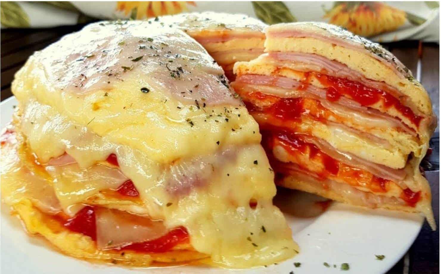 Torta de Omelete no Prato