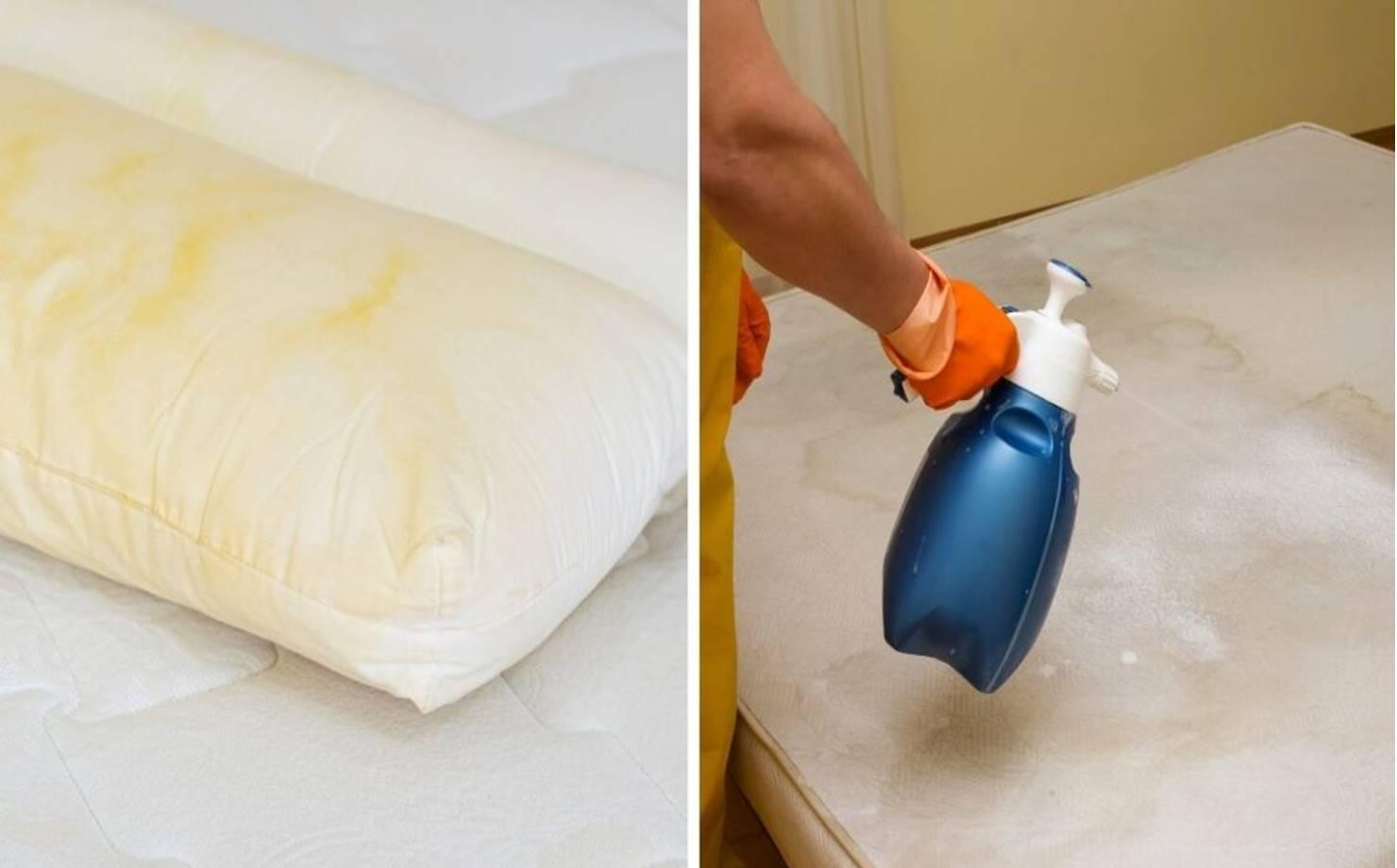 2 misturas eficazes para clarear seu colchão e travesseiros sem usar cloro